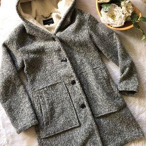 NWOT Lucky Brand Cocoon Tweed Jacket
